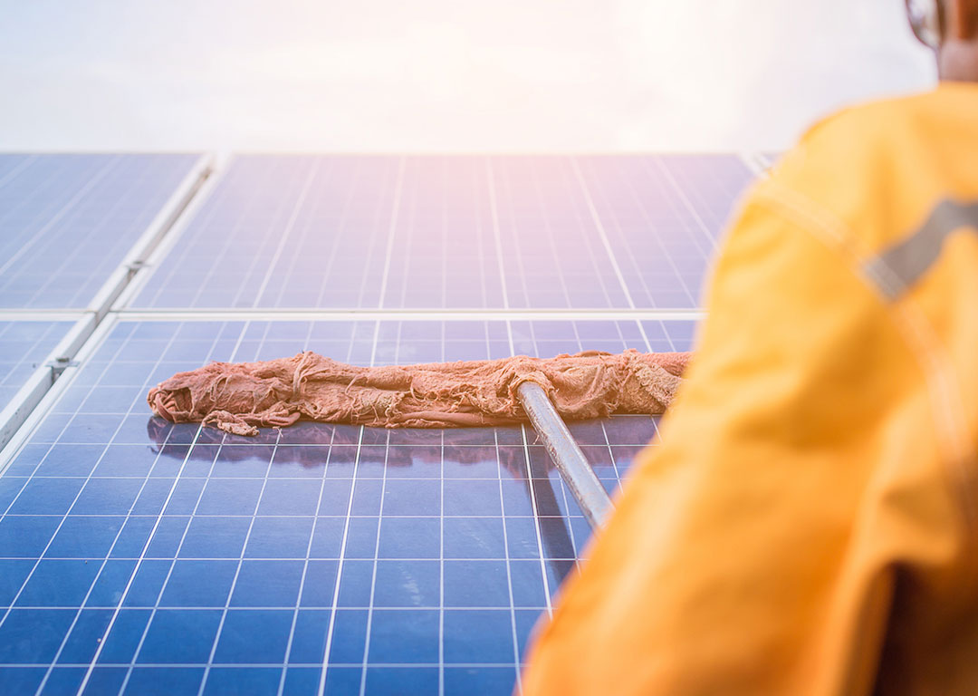 Solar panel cleaning Melbourne